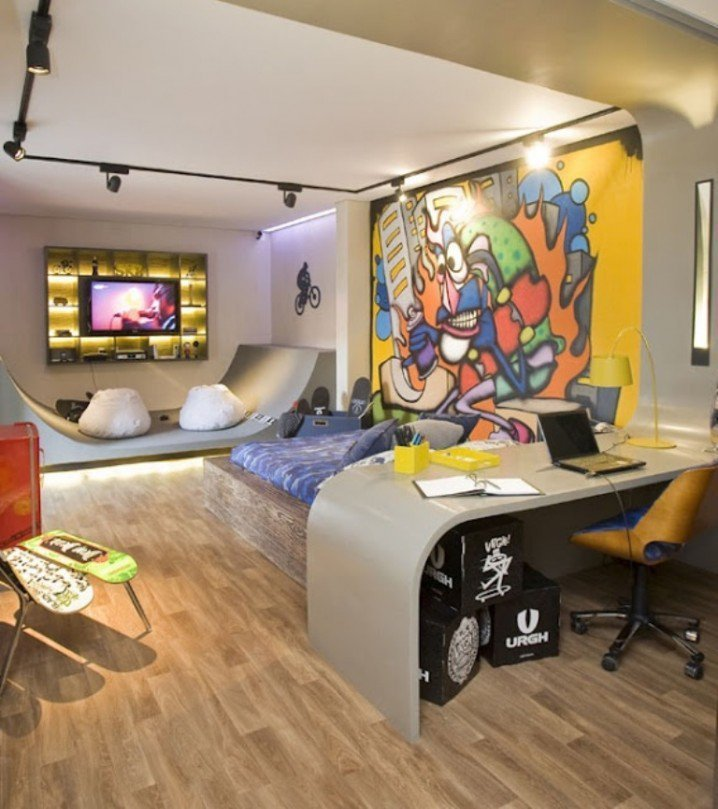 Best 18 Gorgeous Graffiti Wall Interior Inspirations With Pictures