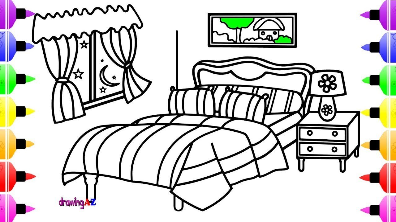 Best Cartoon Bed Drawing At Getdrawings Com Free For Personal With Pictures