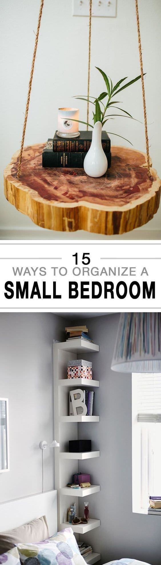 Best 15 Ways To Organize A Small Bedroom House Good With Pictures