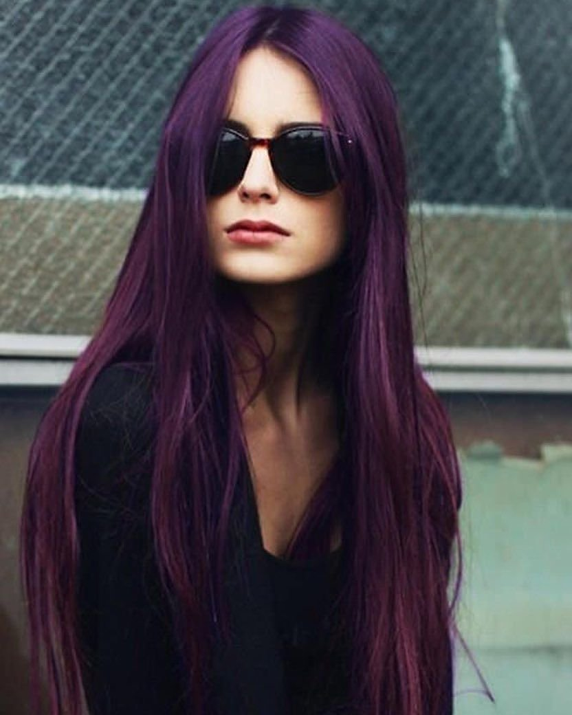 Free 50 Stylish Dark Purple Hair Color Ideas — Destined To Wallpaper