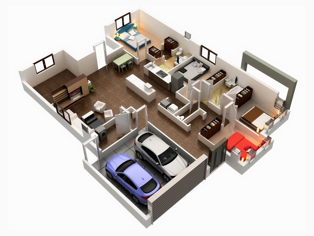 Best Gorgeous 3D Floor Plans Home Design With Pictures