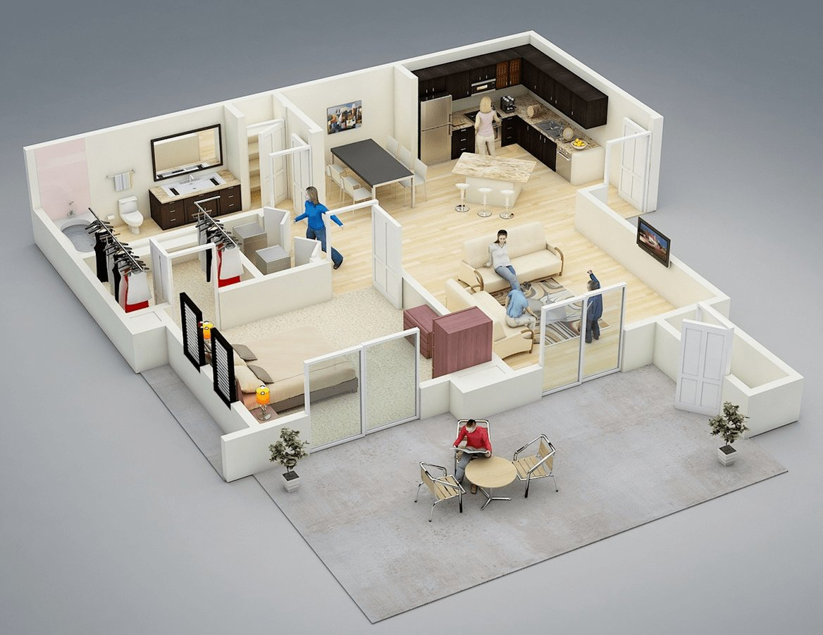 Best One Bedroom House Apartment Plans Home Design With Pictures