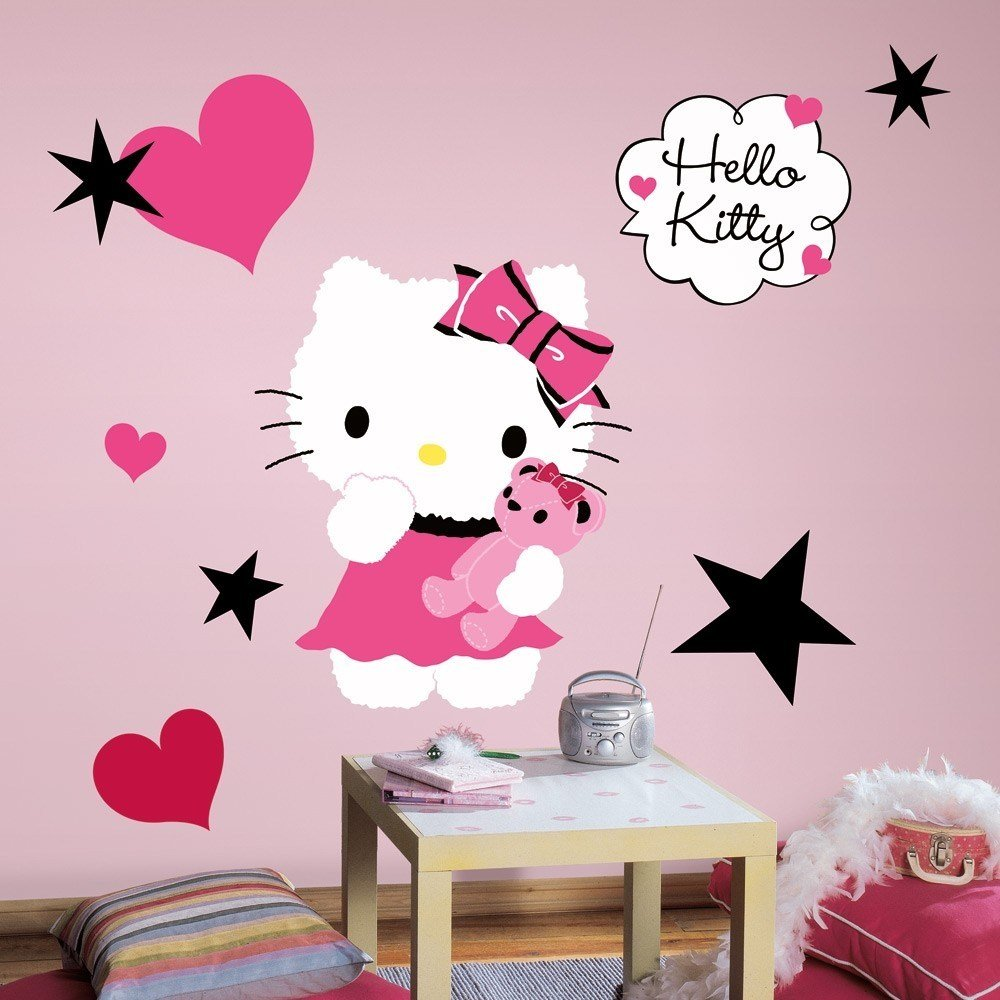Best New Large Hello Kitty Couture Wall Decals Girls Bedroom With Pictures