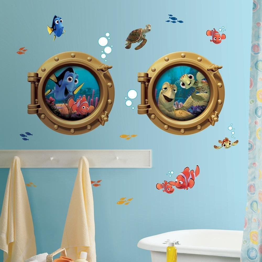Best New Giant Finding Nemo Wall Decals Kids Bathroom Stickers With Pictures