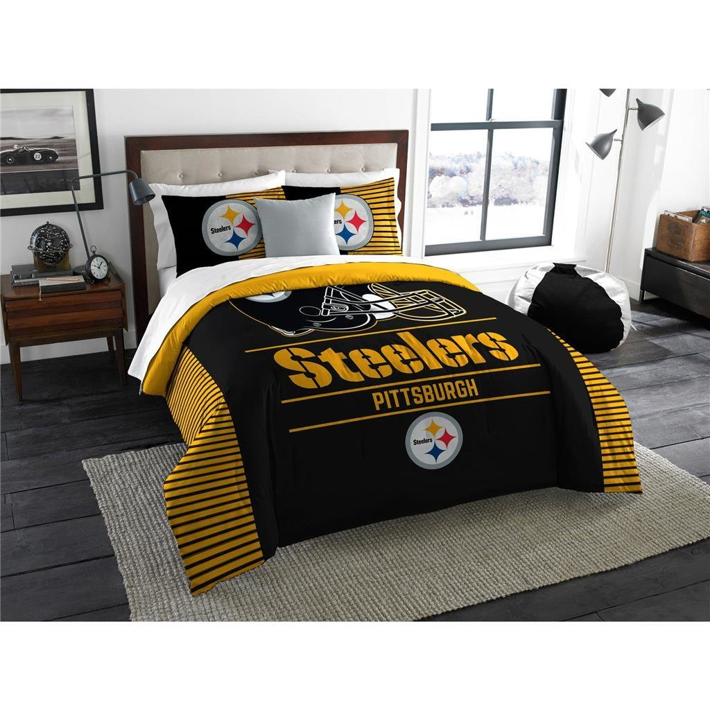 Best Pittsburgh Steelers Nfl Comforter Set W Shams Officially With Pictures