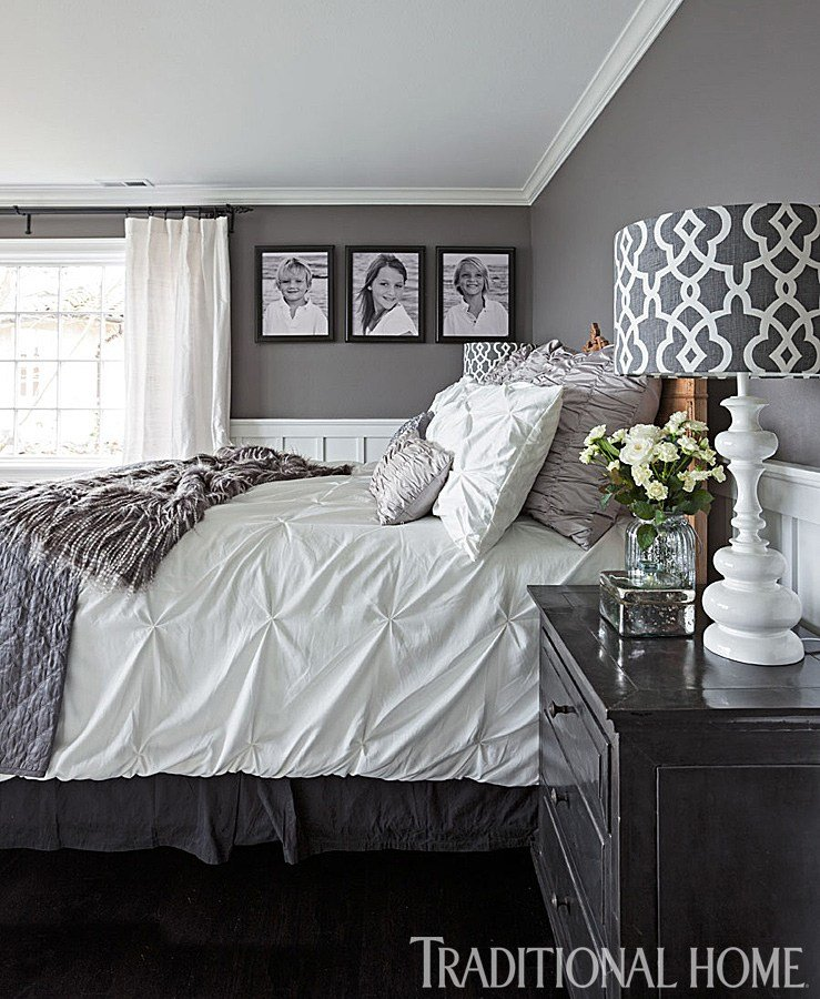 Best Gorgeous Gray And White Bedrooms Traditional Home With Pictures