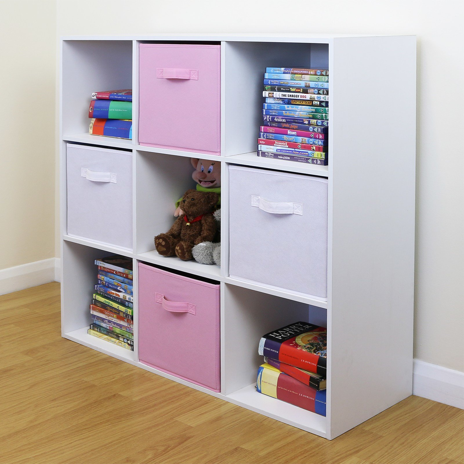 Best 9 Cube Kids Pink White Toy Games Storage Unit Girls Boys With Pictures