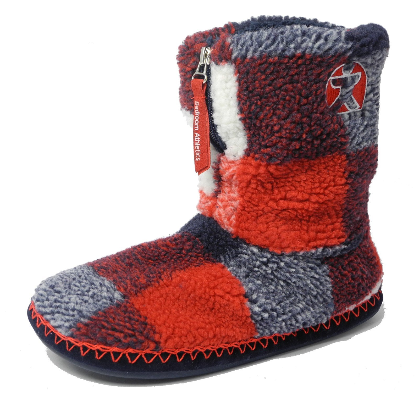 Best Mens Bedroom Athletics Sherpa Fleece Warm Fur Zipped Boots With Pictures
