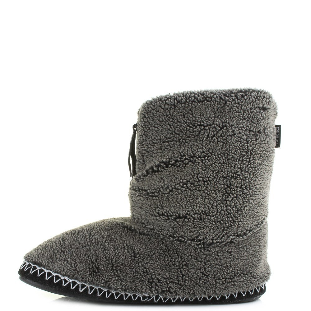 Best Mens Bedroom Athletics Crowe Washed Black Fleece Snow Tip Slipper Boots Shu Size Ebay With Pictures