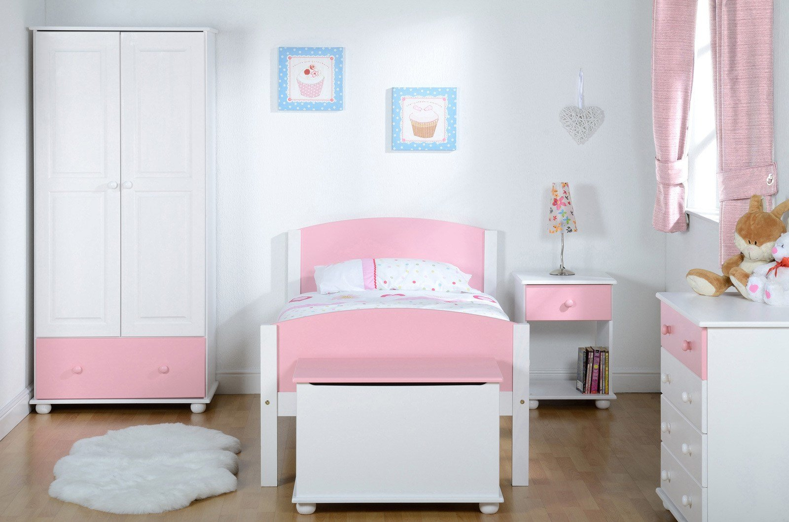Best Kids Bedroom Furniture Pink White Wardrobe Bed Chest Of With Pictures