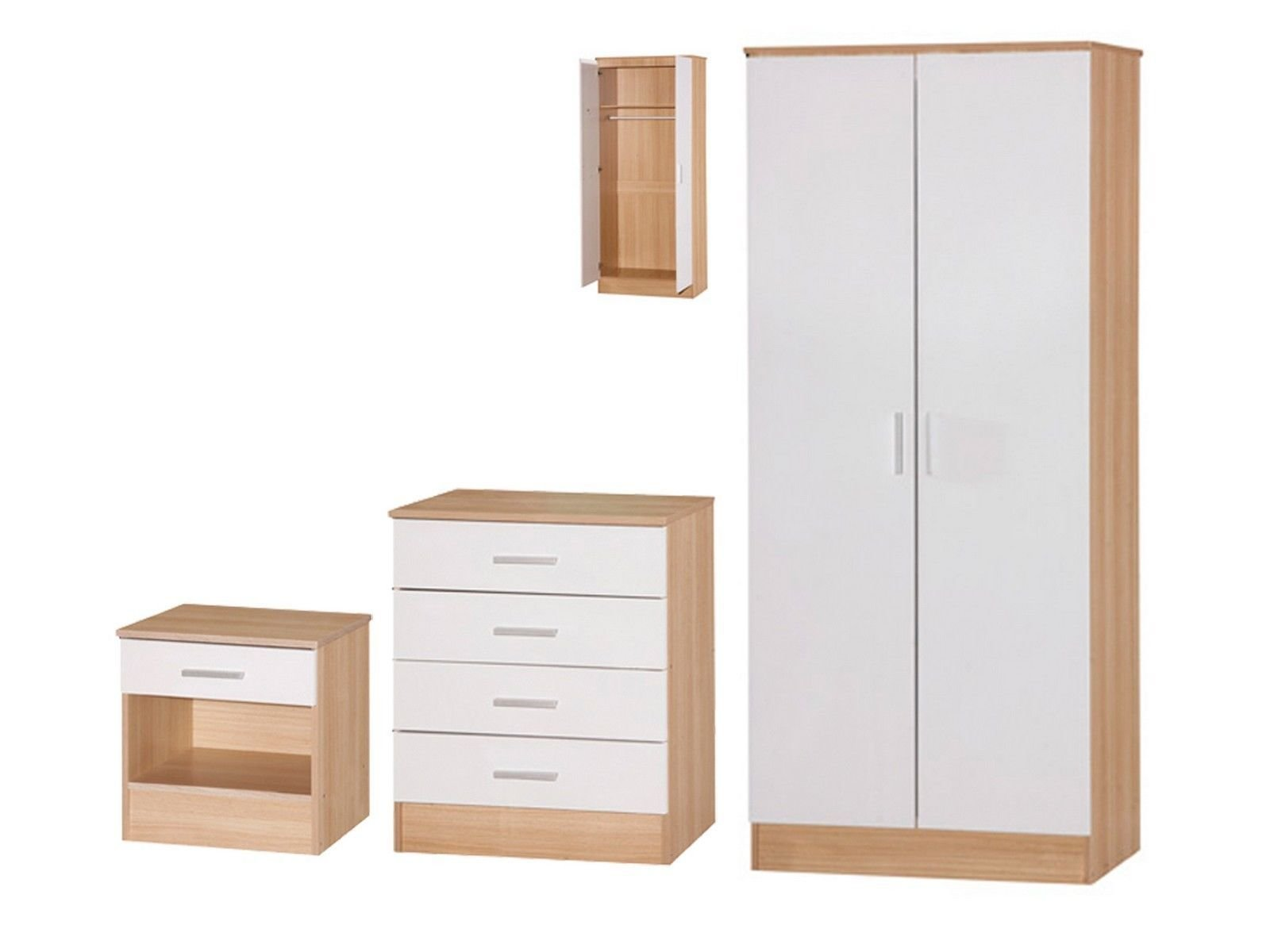 Best Galaxy Bedroom Set 3 Piece Wardrobe Chest Bedside With Pictures