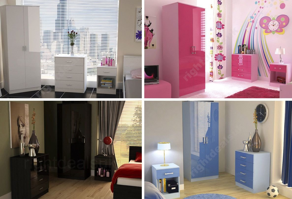 Best Caspian High Gloss Bedroom Furniture Sets Boys Girls Pink With Pictures