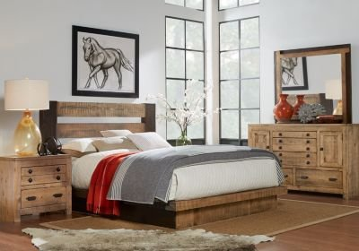 Best Asher Driftwood 5 Pc King Bedroom King Bedroom Sets With Pictures