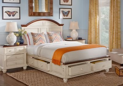 Best Berkshire Lake White 5 Pc Queen Storage Bedroom Bedroom With Pictures