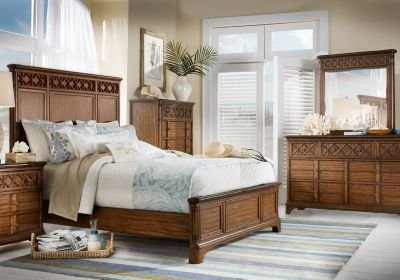 Best Cindy Crawford Home Bondi Beach Brown 5 Pc Queen Panel With Pictures
