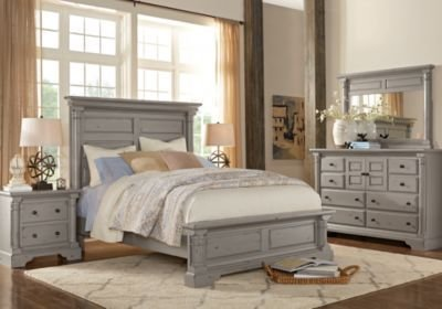 Best Claymore Park Gray 5 Pc Queen Bedroom Queen Bedroom Sets With Pictures