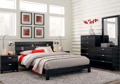 Best Gardenia Black 5 Pc Queen Platform Bedroom Queen Bedroom With Pictures