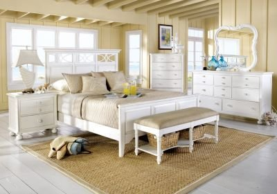 Best Cindy Crawford Home Seaside White Panel 5 Pc Queen Bedroom Bedroom Sets Colors With Pictures