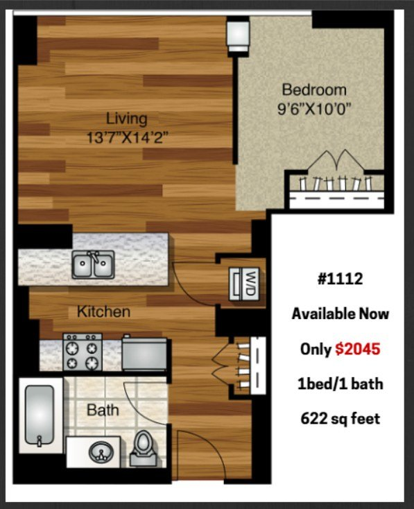 Best Rent A Junior 1 Bedroom At K2 For 2 045 A Month – Yochicago With Pictures
