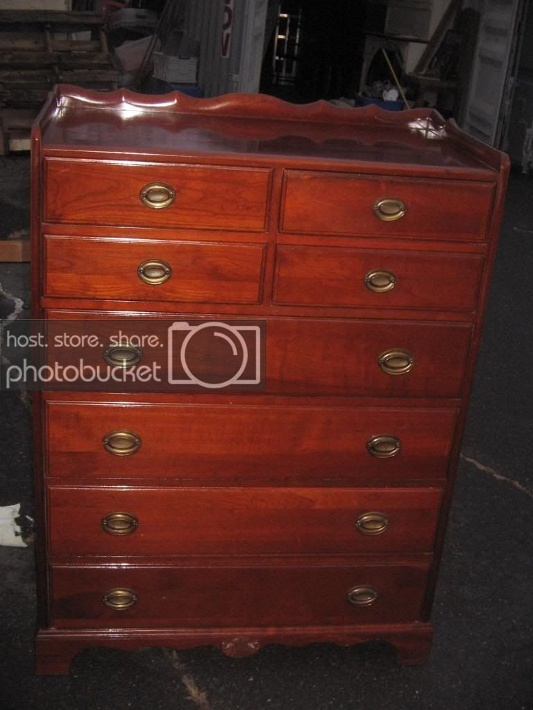 Best Vintage Solid Cherry Bedroom Set Full Size Bed By Davis Furniture Co Ebay With Pictures