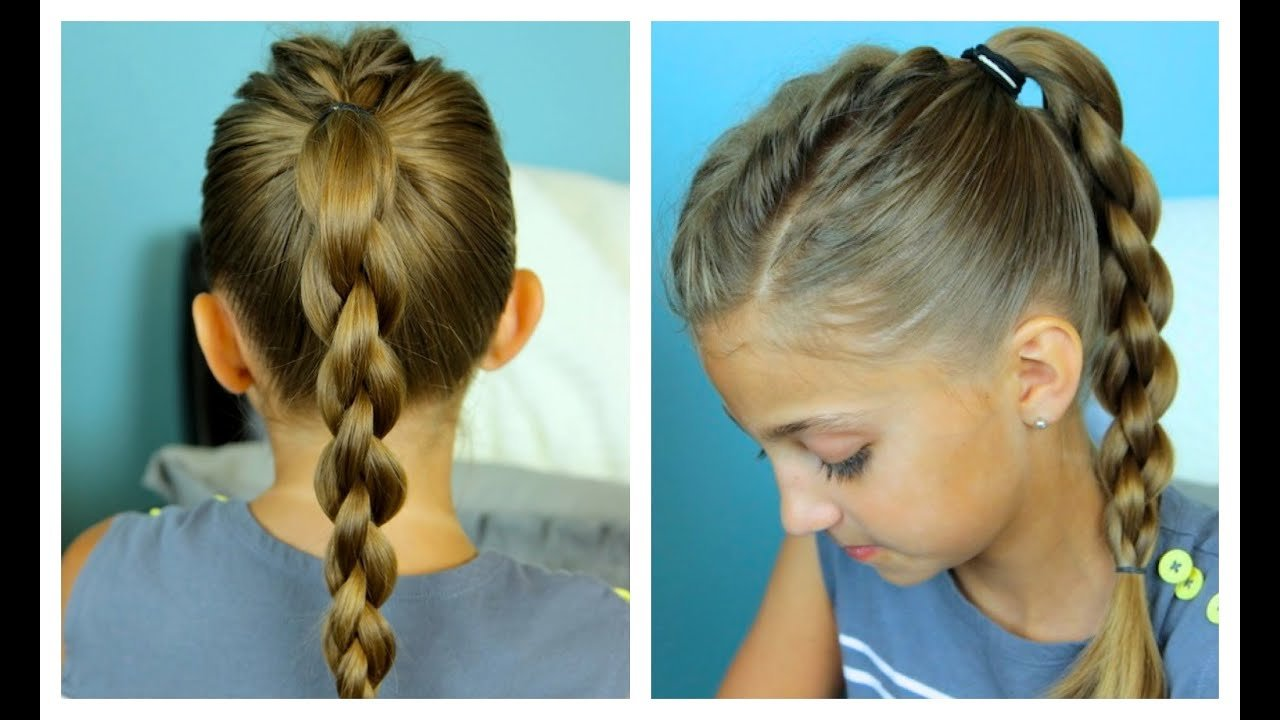 Free Single Frenchback Into 3D Round Braid Easy Hairstyles Wallpaper