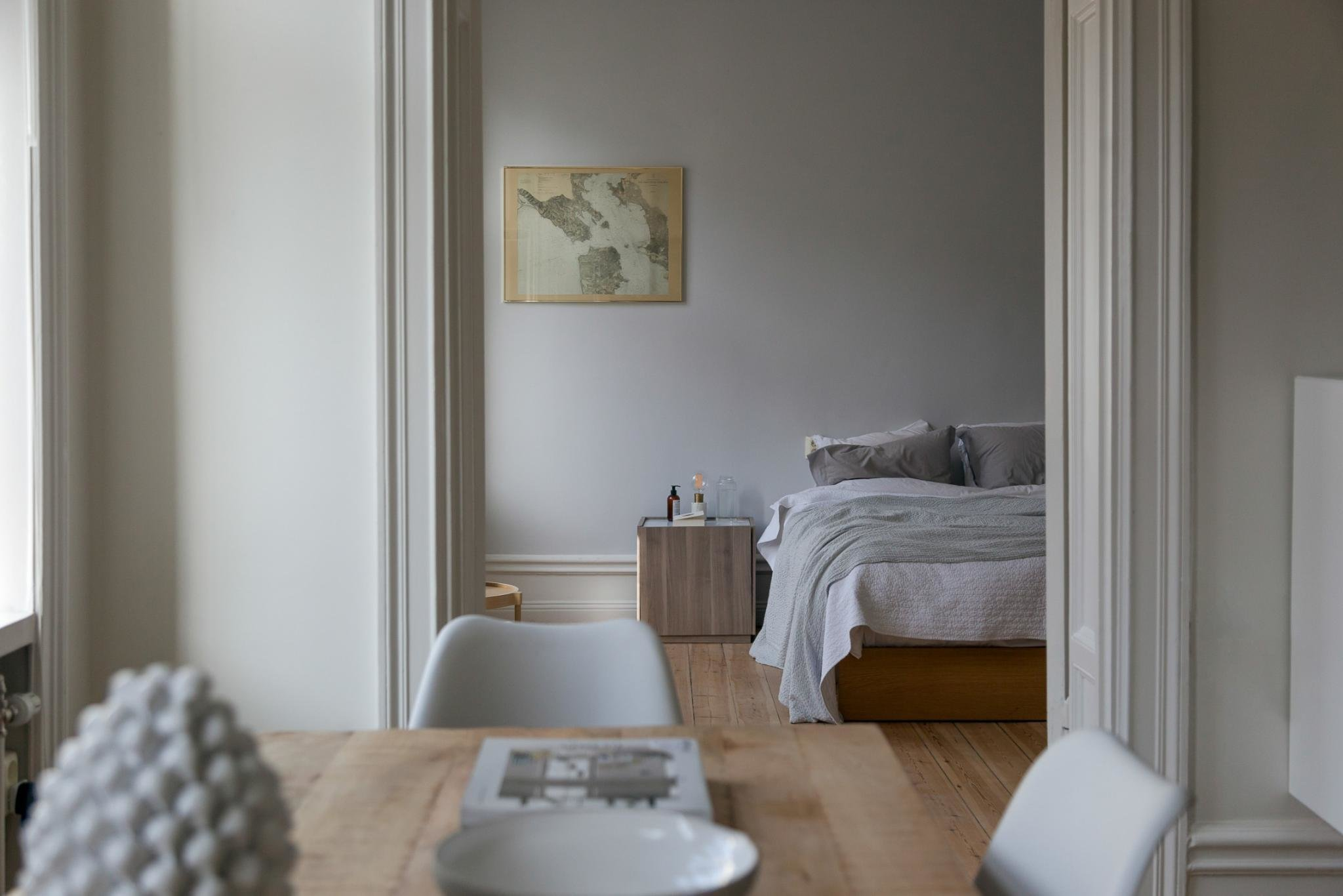 Best Soft Grey Bedroom With Wood Accent Pieces Coco Lapine With Pictures