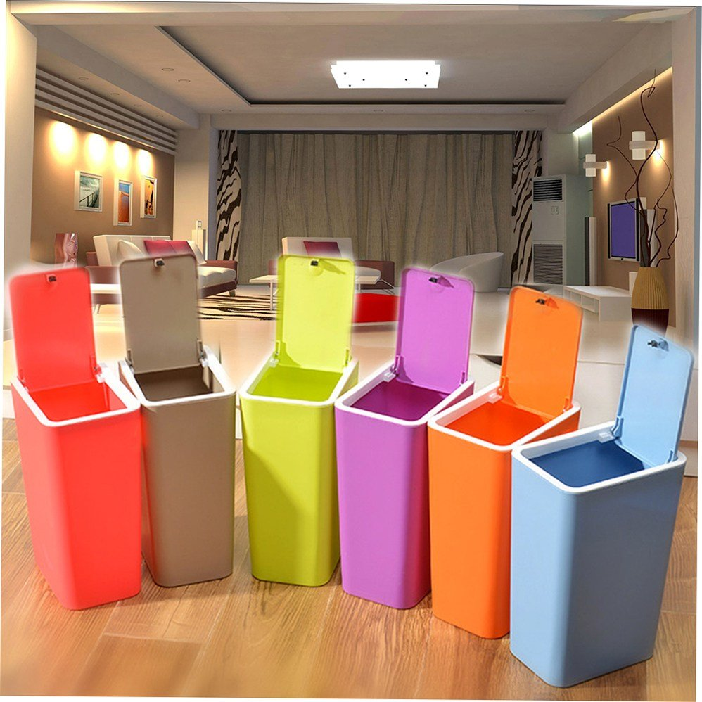 Best Bathroom Bedroom Kitchen Plastic Trash Can Waste Garbage With Pictures