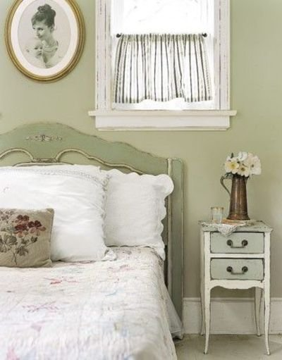 Best Old Fashioned Green Bedroom Soft Green Paint Distressed Vin For The Bedroom Juxtapost With Pictures