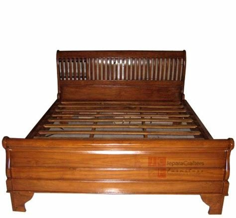 Best Solid Teak Wood Sleigh Bed Bedroom Furniture Indonesia With Pictures