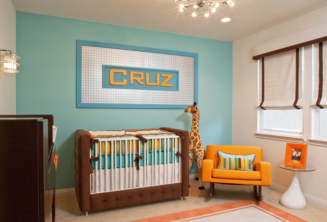 Best Retro Modern Nursery By Little Crown Interiors With Pictures