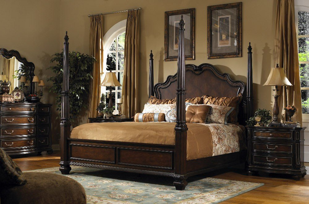 Best Ashley King Poster Bedroom Set Timberline King Size With Pictures