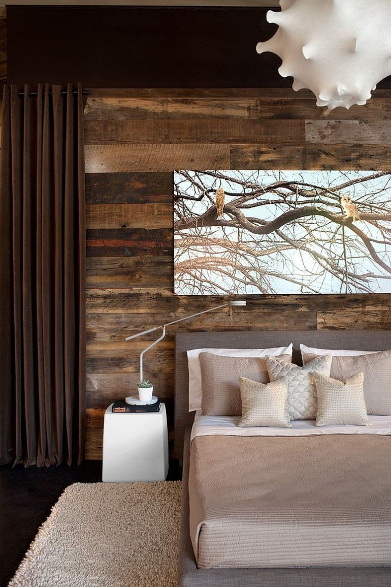 Best Trend Alert Master Bedrooms With Reclaimed Wood Walls With Pictures