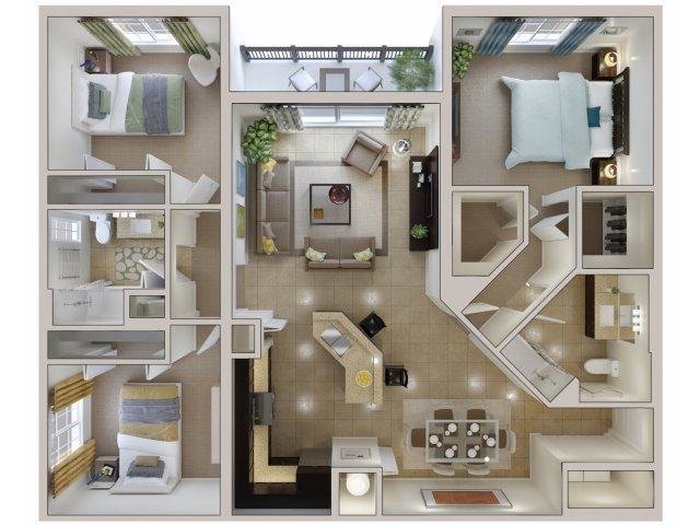 Best 3 Bed 2 Bath Apartment In Miami Fl Bridges At Kendall With Pictures