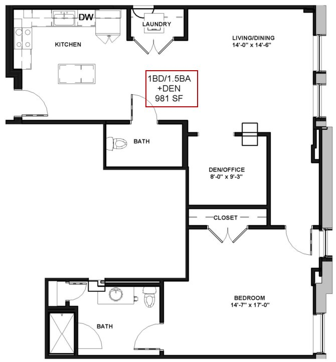 Best 1 Bed 1 5 Bath Apartment In Rochester Ny Spectra At With Pictures