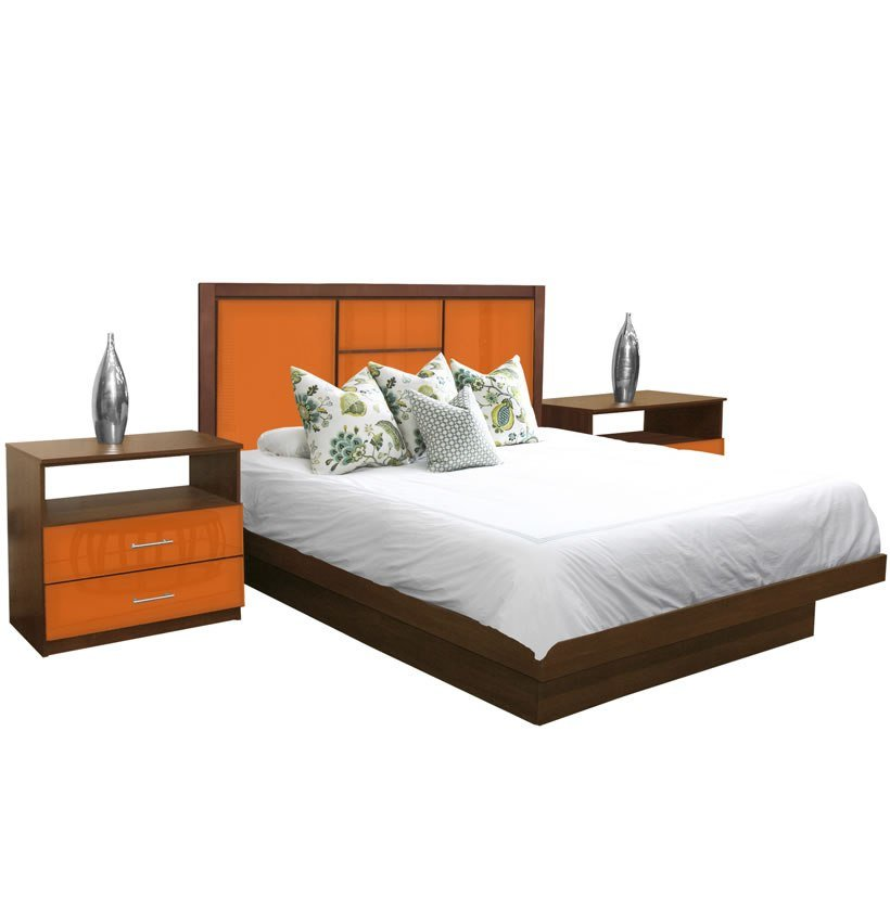 Best Broadway King Size Platform Bedroom Set 4 Piece Contempo With Pictures