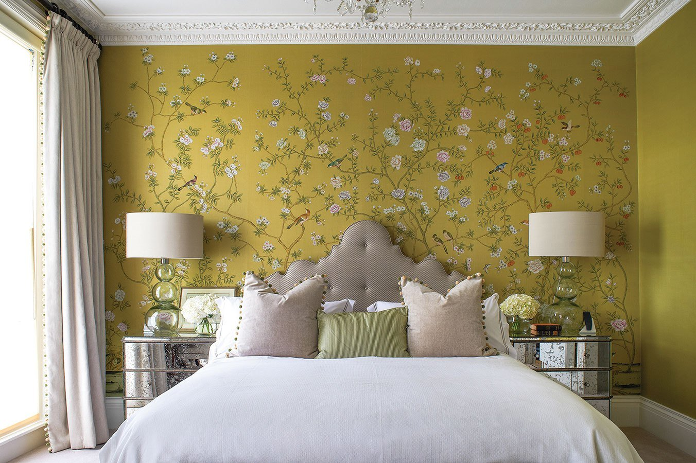 Best 50 Floral Wallpaper And Mural Ideas With Pictures
