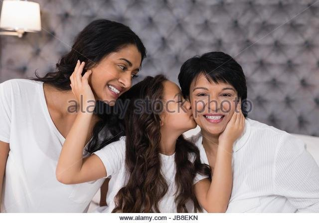 Best Girl Kissing Smiling Granny Stock Photos Girl Kissing With Pictures