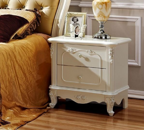 Best White And Antique Night Stand Side Table In Bedroom Set With Pictures