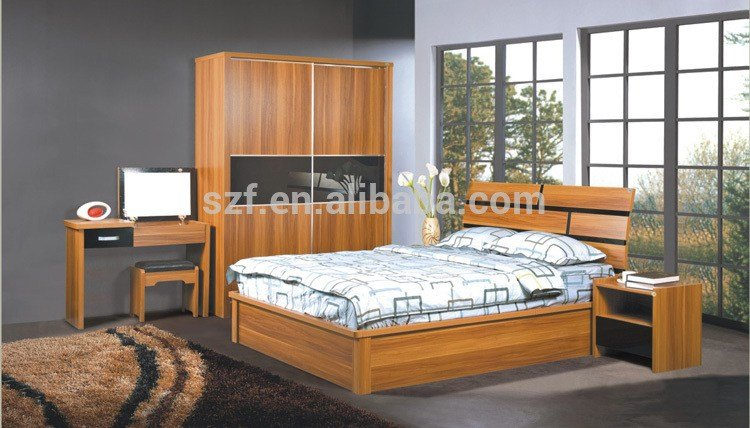 Best China Manufacturer Solid Teak Wood Bedroom Furniture Set With Pictures