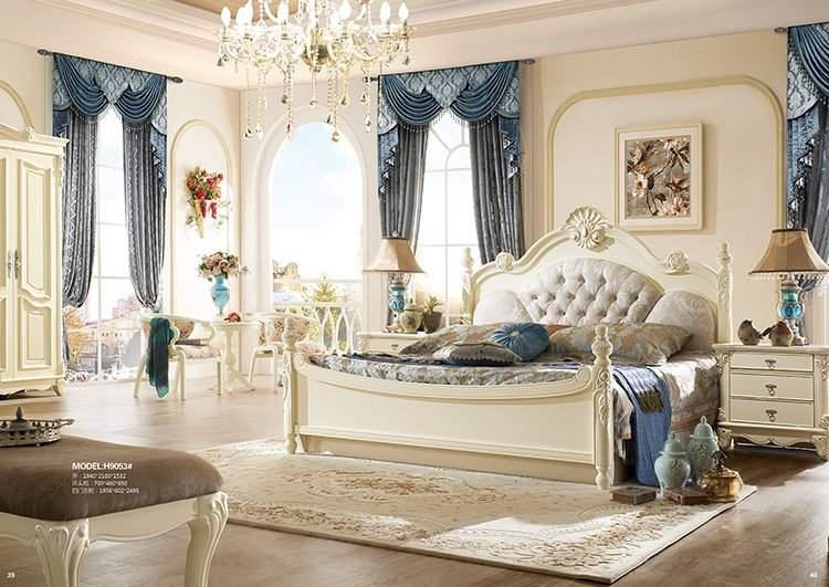 Best Most Popular Antique Luxury King Size Wood Bedroom With Pictures