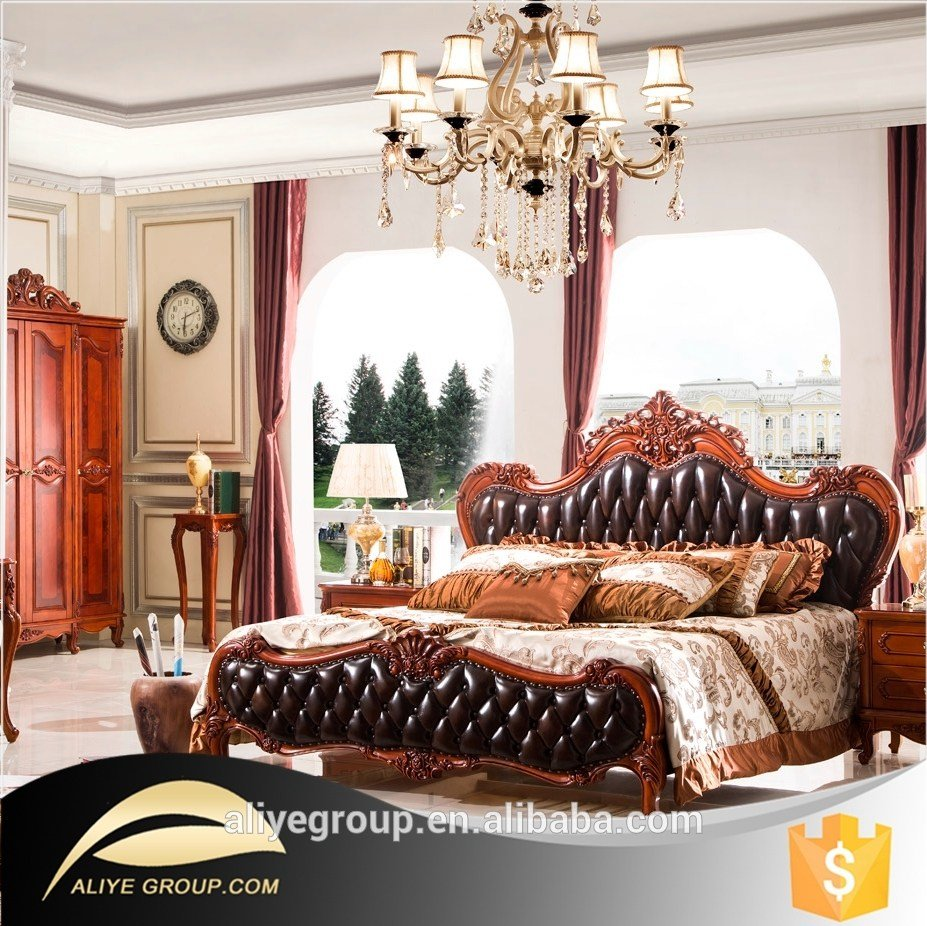 Best Ab47 European Royal Bedroom Furniture Sets Classic Bed Dresser Set Buy American Bed Leather With Pictures