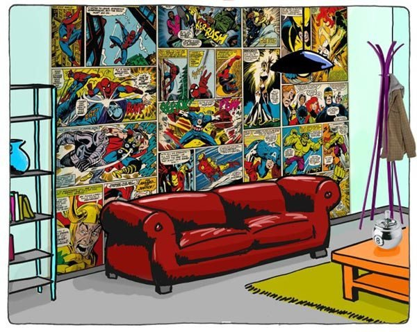 Best Marvel Comic Mural Large Super Hero Wallpaper Fun Decor With Pictures