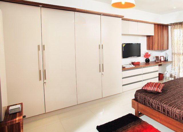 Best Master Wardrobe With Study Table Contemporary Bedroom With Pictures
