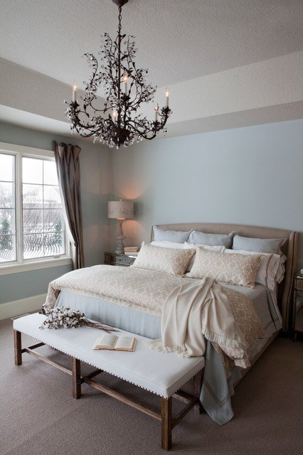 Best Pale Blue Master Bedroom Traditional Bedroom Other With Pictures