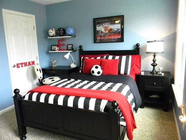 Best Boy S Soccer Room Contemporary Kids Richmond By Seaside Interiors Llc With Pictures