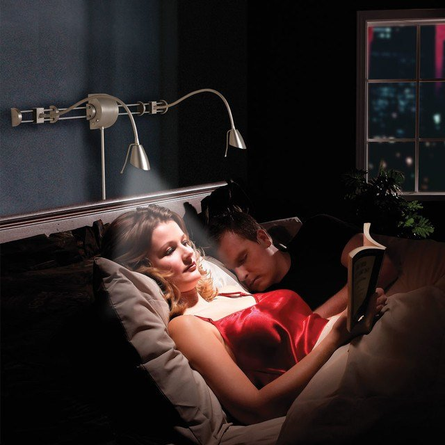 Best Swing Arm Over Bed Reading Light Transitional With Pictures