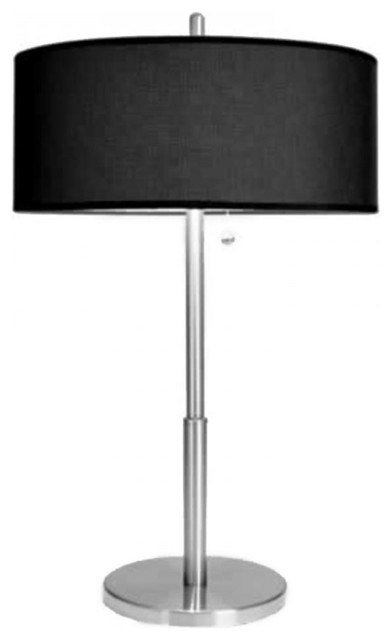 Best Luxury Tall Bedroom Table Lamps With Black Linen Shade With Pictures