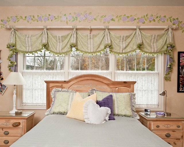 Best Savannah Valance By Window Works Traditional Bedroom With Pictures