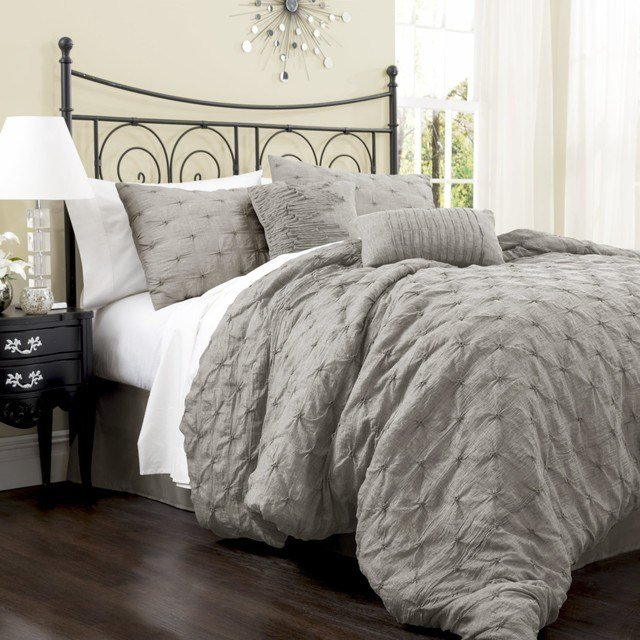 Best Lush Decor Lake Como 4 Piece Comforter Set Gray Contemporary Comforters And Comforter Sets With Pictures