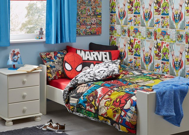Best Marvel Comic Themed Boys Bedroom Contemporary Kids With Pictures